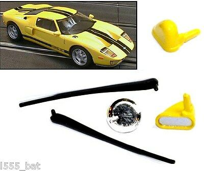 New Genuine Scalextric W9261 Ford GT Wipers, Wing Mirrors, Fuel Cap For C2734