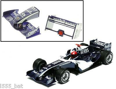New Scalextric W9366 Rear Wing Spoiler & Nose Cone BMW Williams FW27 2006 F1