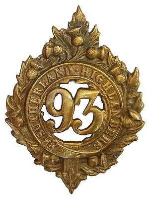 Victorian 93Rd Argyll And Sutherland Glengarry Badge