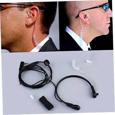 2PIN Security Throat Vibration Mic Headphone Headset Earpiece For Talkie R&