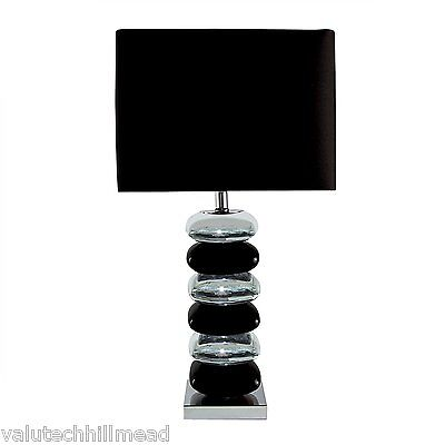 Searchlight 66cm Table Lamp in Chrome/ Black