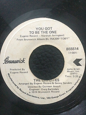 """The Chi-Lites - You Got To Be The One  7"""" Vinyl"""