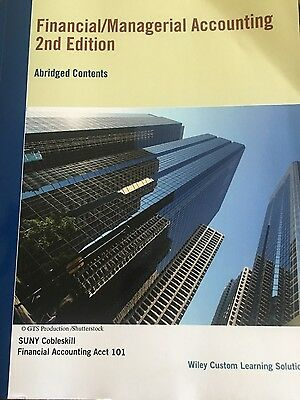 Financial managerial accounting chapters 1 14 2nd edition financial managerial accounting 2nd edition fandeluxe Images