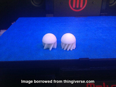 Finned First-Strike Compatible .68 Paintball Rounds (Set of 20) [3D Printed]