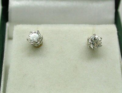 Super Quality 18ct Gold Diamond Solitaire Stud Earrings 0.66 carat.