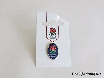 RFU England Rugby Oval Blue Pin Badge - Official Rugby Football Union Pins
