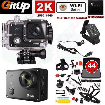 Gitup Git2 16MP WiFi 2K Sports Car Action Camera DVR+Mic+Control+Accessories Kit