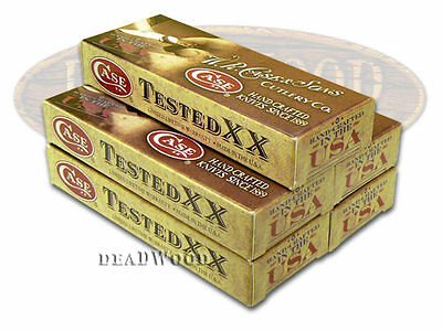 CASE XX 5 Standard Brown Boxes for Pocket Knives