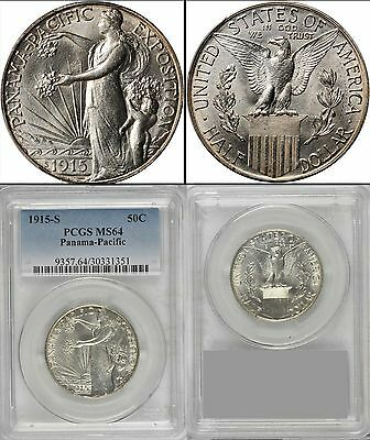 1915-S Panama Pacific  PCGS MS64 Certified Silver Commemorative Coin