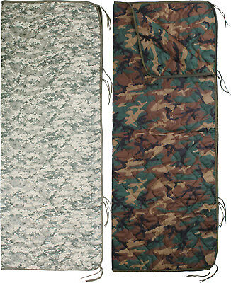 """Camouflage Rip-Stop Woobie Poncho Liner With Zipper - 62"""" x 82"""""""