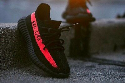 Adidas YEEZY Boost 350 V2 'Red Stripe' Core Black Red sply BY9612