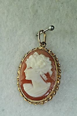 1970s vintage italian 14k gold cameo pendant for a necklace 1970s vintage italian 14k gold cameo pendant for a necklace aloadofball Images