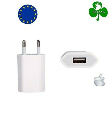 Genuine Apple iPhone 7 6 5 5S 5C 4S 4 EU AC Plug Wall Mains USB Charger Adapter