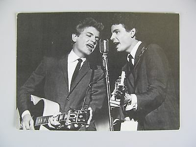 The Everly Brothers Vintage Postcard / American Singing Duo