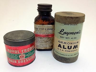 Vintage Old Country Store Items Cans and Bottle