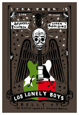 Scrojo Los Lonely Boys Alejandro Escovedo Belly Up Tavern '10 Poster Lonely_1003