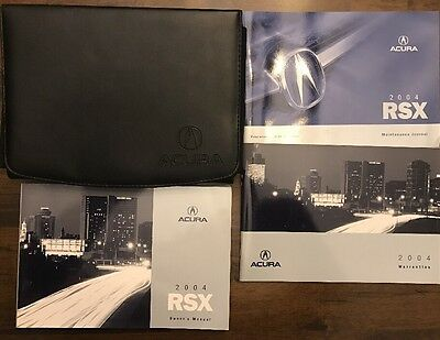 2004 Acura RSX Owners Complete Manual Set