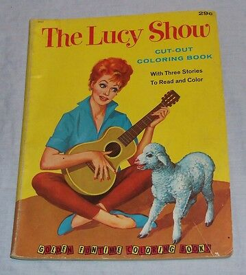RARE 1963 I LOVE LUCY SHOW Cut-Out Coloring Book - Lucille Ball