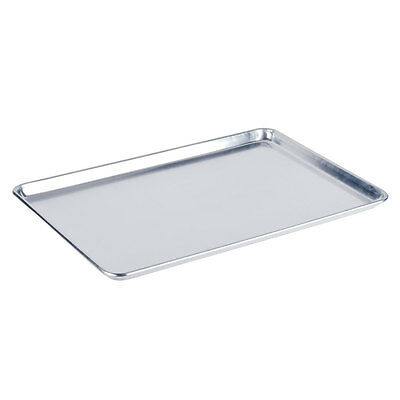 "12-Pack Full Size 19 Gauge Aluminum Bun Pan / Sheet Pan - Wire in Rim, 18"" x 26"""