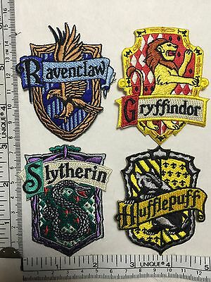 Harry Potter House Patches Crest Gryffindor Ravenclaw Slytherin Hufflepuff Movie