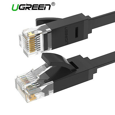 Ugreen Flat Ethernet CAT6 RJ45 Network Cable Lan Patch Lead Cord for PC PS4 Xbox