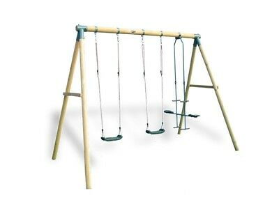 Lifespan Kids Emerald Double Swing Set Outdoor Backyard Equipment