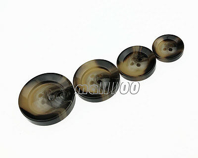 12pcs Fashion Resin Round 4 Holes Buttons for Coat Suit Sewing 17 21 25 30mm