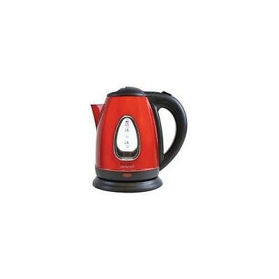 E1501RD Kitchen Perfected 3000W Cordless Kettle With Red Steel Body & 1.7L