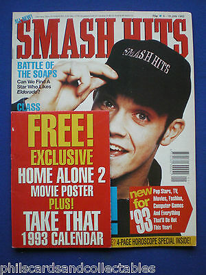 Smash Hits - 6th Jan 1993 - Robbie Williams, East 17, Battle of the Soaps