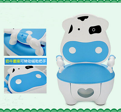 Kids Children Baby Toddler Toilet Training Potty Seat Trainer Chair 2in1 2 Color