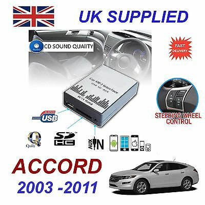 For Honda ACCORD MP3 SD USB CD AUX Input Audio Adapter Digital CD Changer Module