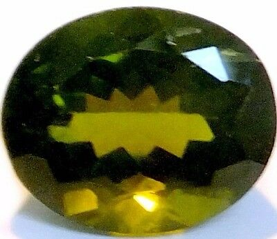 NATURAL UNUSUAL PALE GREEN PERIDOT GEMSTONES (12.8 x 10.6 mm) LARGE OVAL (7ct)