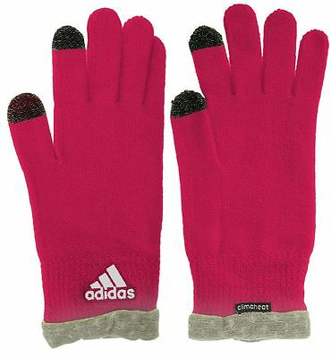 Adidas 2017 Ladies Climaheat Insulation Womens Sports Winter Knit Gloves-PAIR