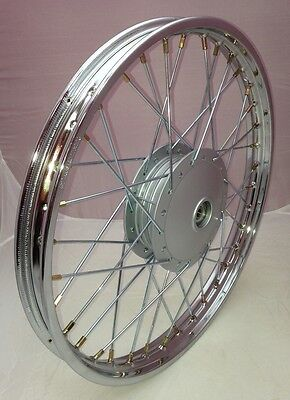 Honda C90 Cub Motorcycle 17 x 1.40 Chrome Front Wheel (see description)