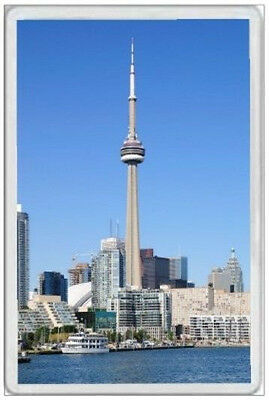 Cn Tower - Jumbo Fridge Magnet - Toronto Canada Waterfront