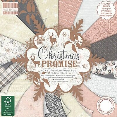 """SET 64 CARTE FIRST EDITION CHRISTMAS PROMISE 15x15 cm (6""""x6"""") SCRAPBOOKING"""