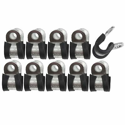 """Brake Pipe Clips Rubber Lined P Clips 5/16"""" (7.9mm) lines Pack of 10 FL32"""