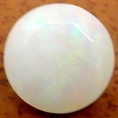 NATURAL IRIDESCENT MULTI-COLOUR OPAL LOOSE GEMSTONE (10.0 mm) ROUND CUT