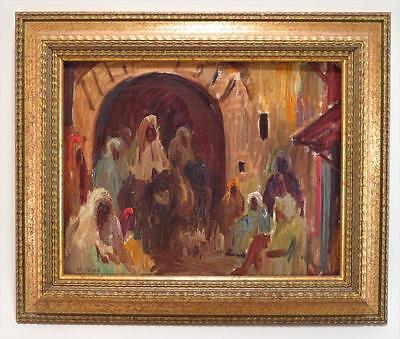 "Eliot Candee Clark  Listed  American Antique oil ""Morroco"" sig, dat 1930 Exhibit"