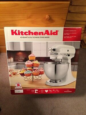 NEW KITCHEN AID K45SS  White 275 Watt  4-1/2-Quart TILT-HEAD STAND MIXER SEALED!