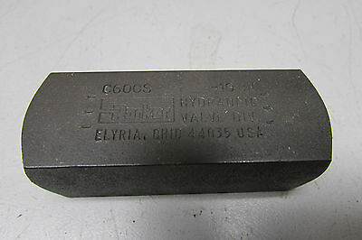Parker C600S Check Valve 5000 PSI 8GPM