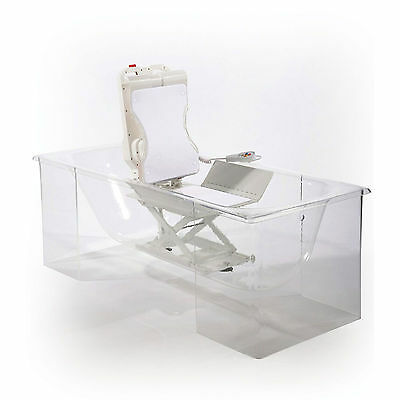 Riviera Bathlift Seat Chair. Compact, Portable, White Seat Covers, Bath lift aid