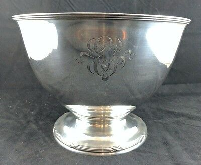 "9"" Sterling Silver Gorham Punch Bowl 1908 Centerpiece"