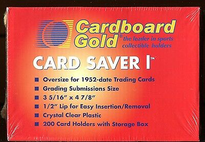 200 CARD SAVER I TOP LOADERS FOR GRADED CARDS 1 1's Cardsaver CS1