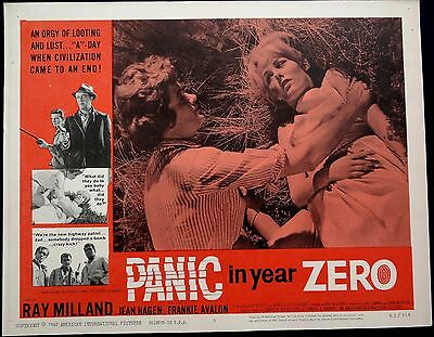 Rare Set 5X Panic In Year Zero 1962 Vintage Lobby Film Cards Posters Ray Milland