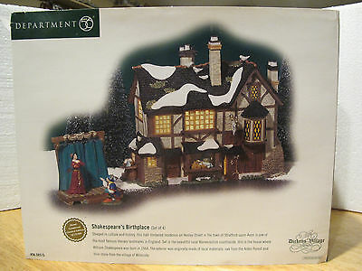 Dept 56 Dickens Village Shakespeare's Birthplace #58515 D56 Very Good Condition