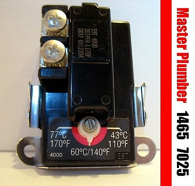 New Master Plumber 1465, 7025, lower electric water heater thermostat GSW Giant