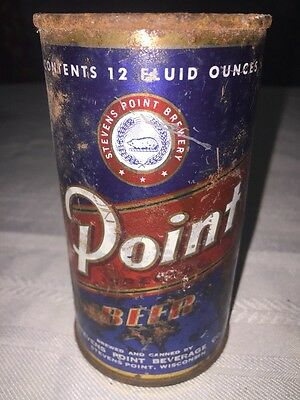 Point Beer Flat Top Beer Can Opened At Top