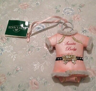 """Baby's Girl first Christmas ornament Pink  """"Santa Baby"""""""