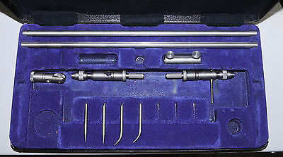 Moore & Wright 710 2 piece 12 inch Trammel divider set with case